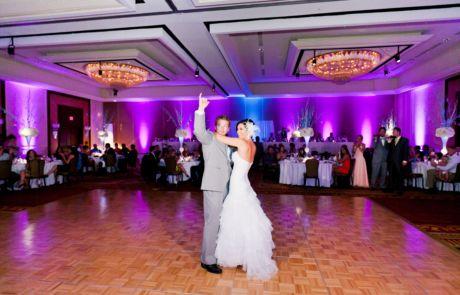 Purple Uplights JW Marriott